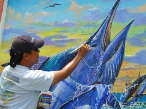 Photo B Charey Chen painting Blue Marlin