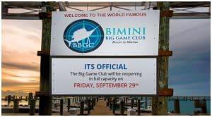 Bimini Big Game Club ReOpening
