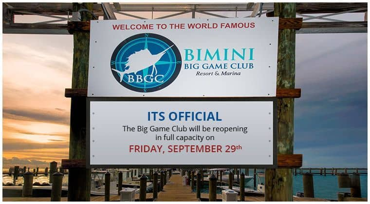 Bimini Big Game Club ReOpening